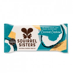 Squirrel Sisters Raw Energy Bar | Coconut Cashew 16 x 40g