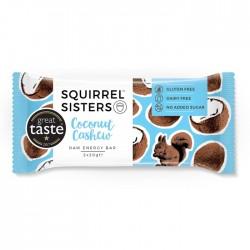 Squirrel Sisters Raw Energy Bar | Coconut Cashew 16 x 40g