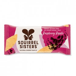 Squirrel Sisters Raw Energy Bar | Raspberry Ripple 16 x 40g