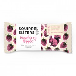 Squirrel Sisters Raw Energy Bar | Raspberry Ripple 16 x 40g