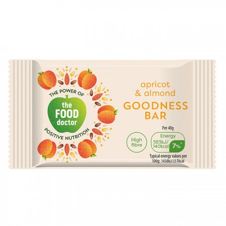 The Food Doctor | Apricot & Almond Bar - 20 x 40g