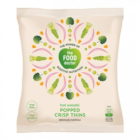 The Food Doctor | Wasabi Popped Crisp Thins - 10 x 23g