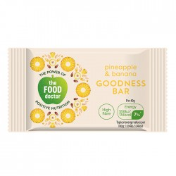 The Food Doctor | Pineapple & Banana Bar - 20 x 40g