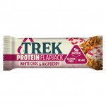 Trek White Chocolate & Raspberry Protein Flapjack - 16 x 50g
