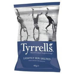 Tyrrells Lightly Sea Salted Crisps 24 x 40g