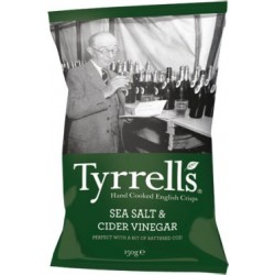 Tyrrells Sea Salt & Cider Vinegar Crisps 24 x 40g