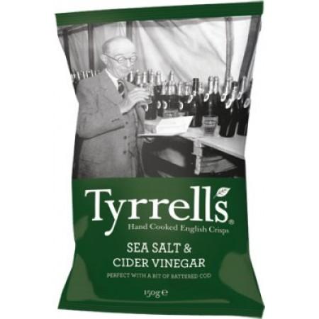 Tyrrells Sea Salt & Cider Vinegar Crisps 24 x 40g