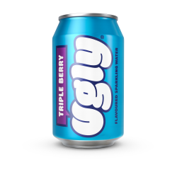 Ugly Unsweet Water - Triple Berry Flavour - 24 x 330ml