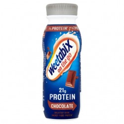 Weetabix 21g Protein Chocolate - on the go breakfast drink - 8 x 275ml