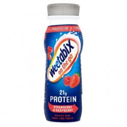 Weetabix 21g Protein Strawberry - on the go breakfast drink - 8 x 275ml