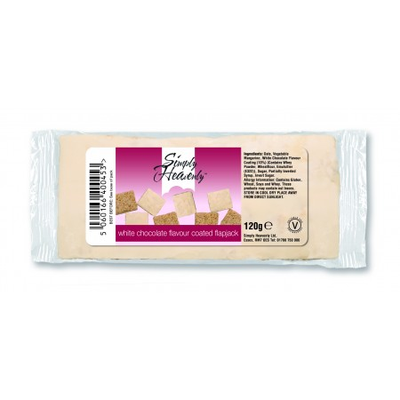 Simply Heavenly Flapjack White Chocolate Coated 15 x 120g