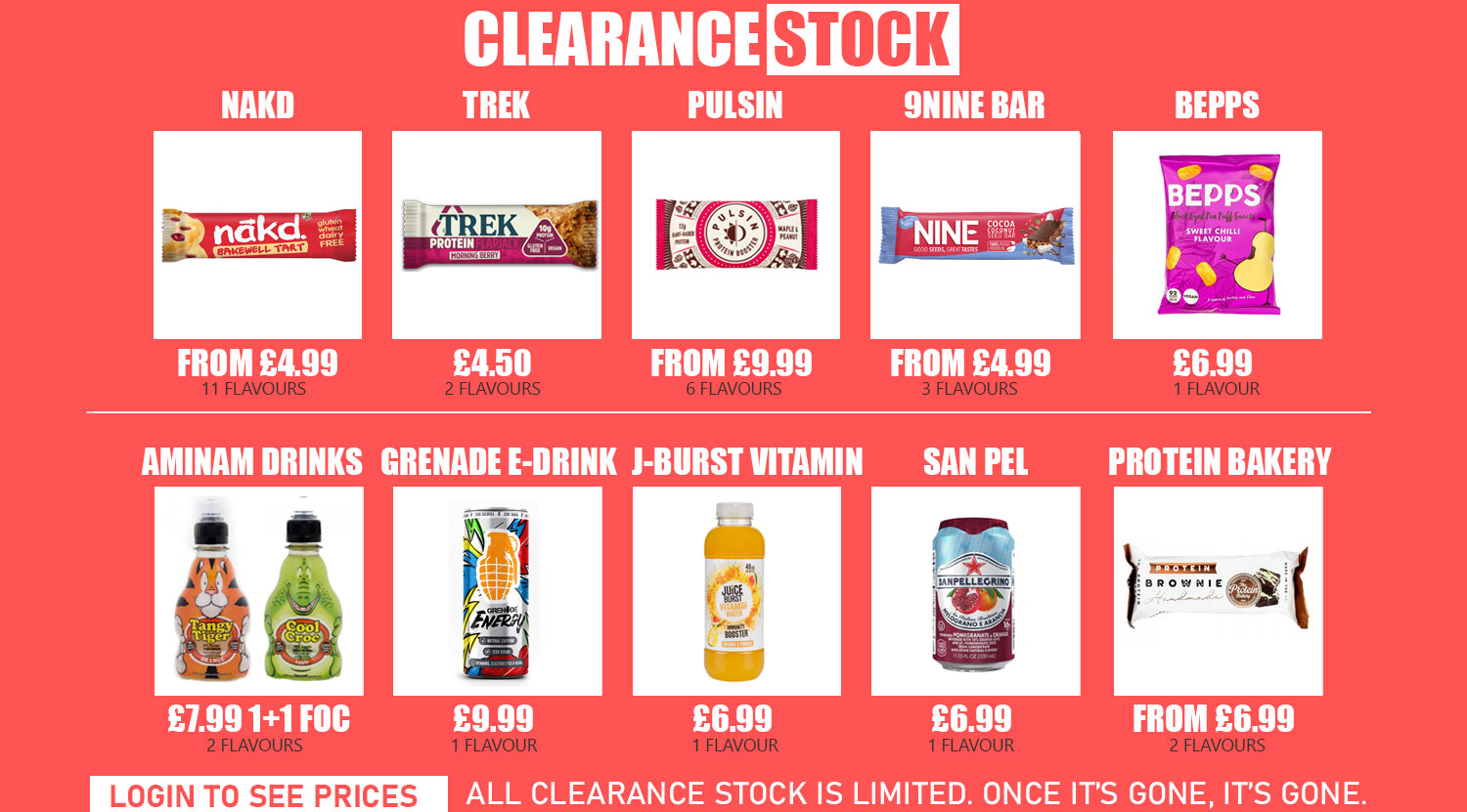 Click to view all clearance lines in September 2020