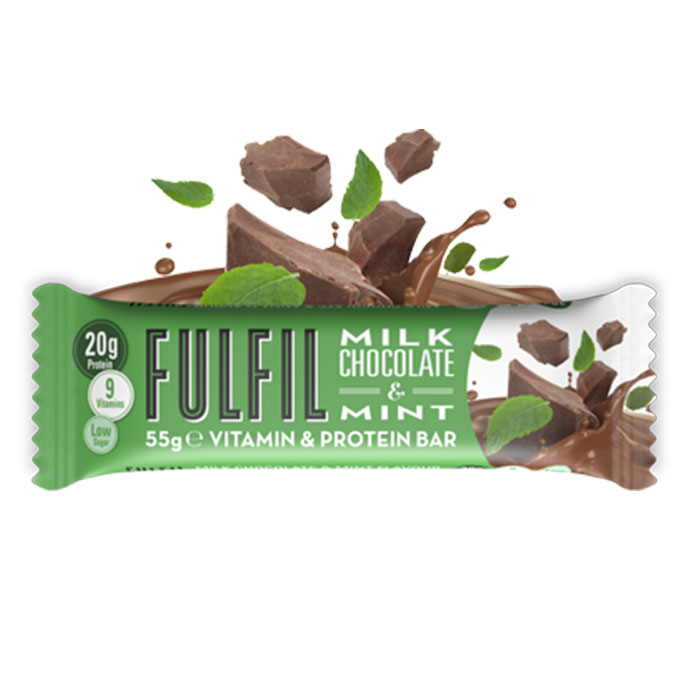 Fulfil Vitamins Amp Protein Bar Milk Chocolate Amp Mint 15