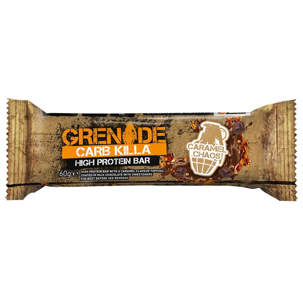 Grenade protein bar caramel chaos 12 x 60g for Food bar manufacturers uk