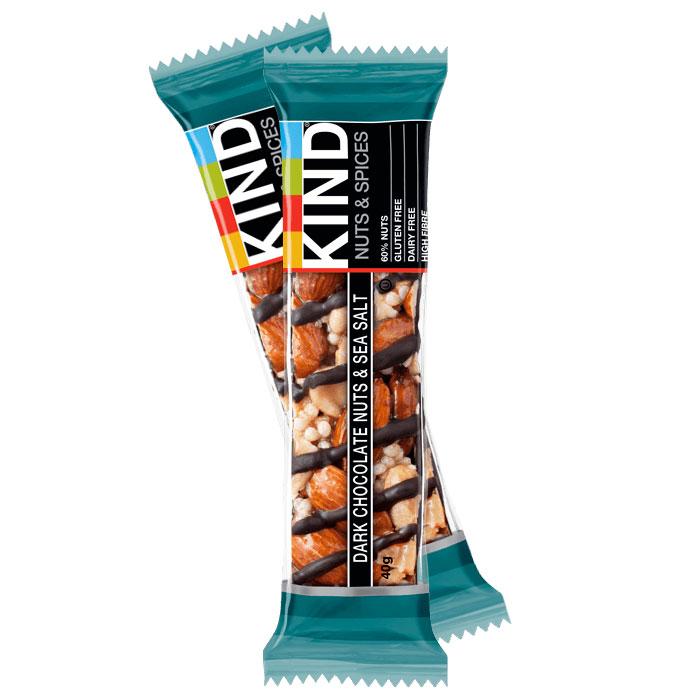 Kind bars dark chocolate nuts sea salt 12 x 40g for Food bar manufacturers uk