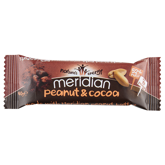 Meridian bar peanut coconut 18 x 40g for Food bar manufacturers uk