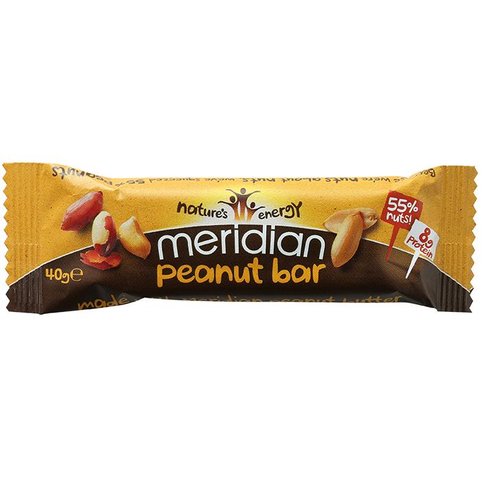 Meridian bar peanut bar 18 x 40g for Food bar manufacturers uk