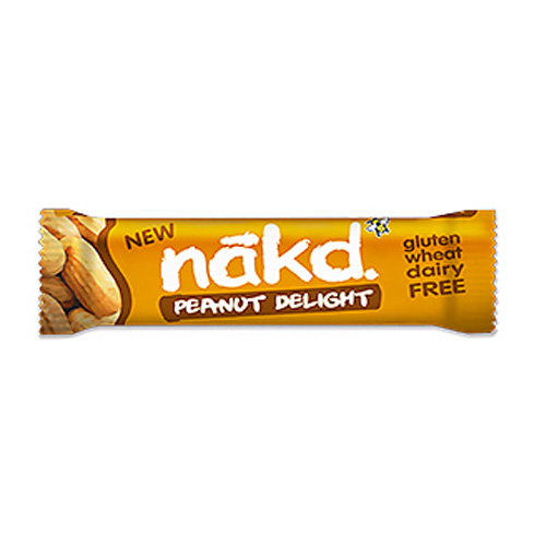 Nakd peanut delight gluten free bars 18 x 35g for Food bar manufacturers uk