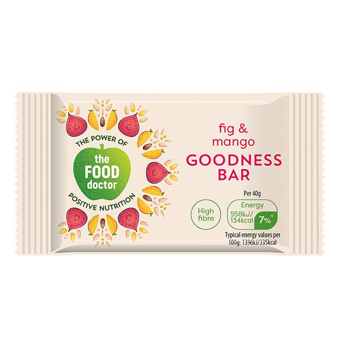 The food doctor fig mango bar 20 x 40g for Food bar manufacturers uk